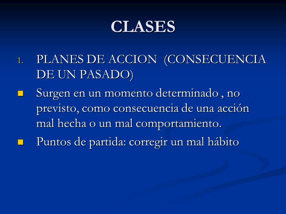 CLASES PLANES DE ACCION (CONSECUENCIA DE UN PASADO)