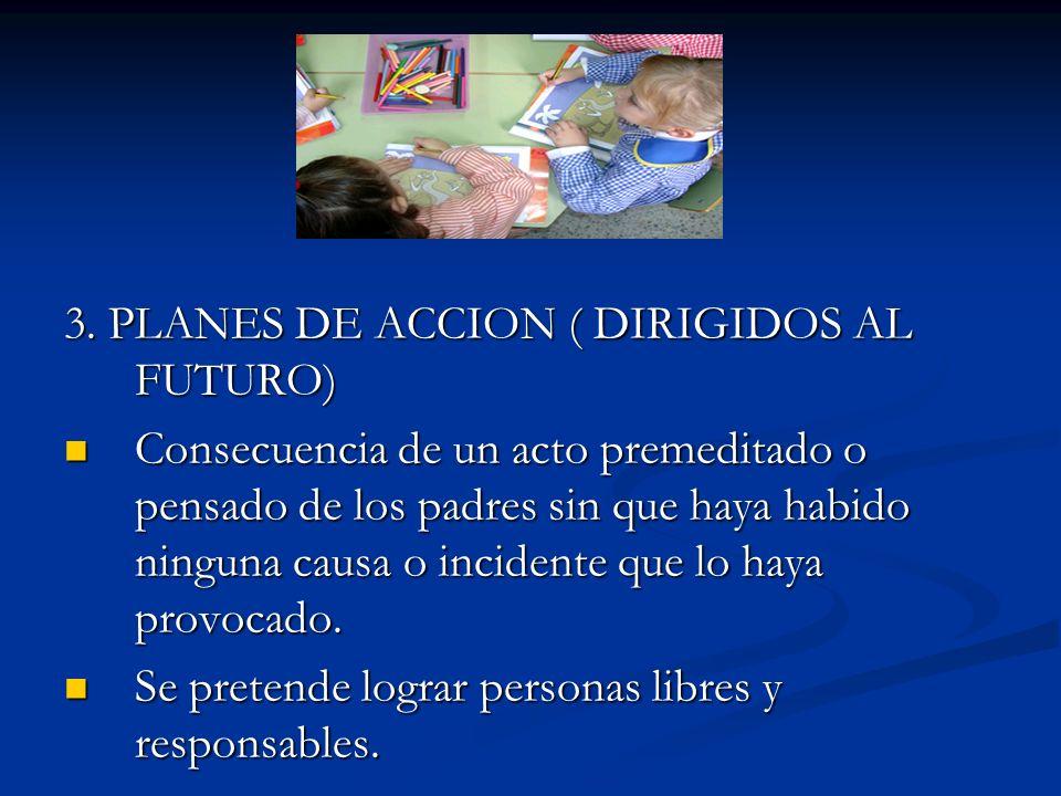3. PLANES DE ACCION ( DIRIGIDOS AL FUTURO)