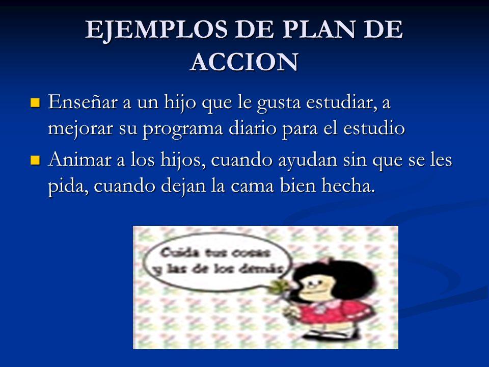 EJEMPLOS DE PLAN DE ACCION
