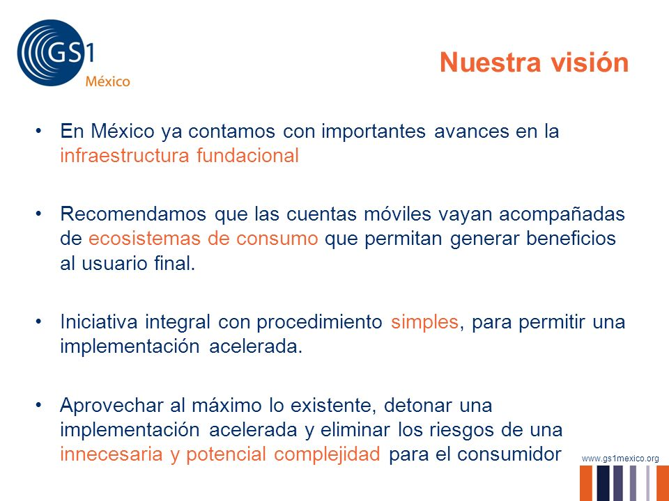 Nuestra visiónEn México ya contamos con importantes avances en la infraestructura fundacional.