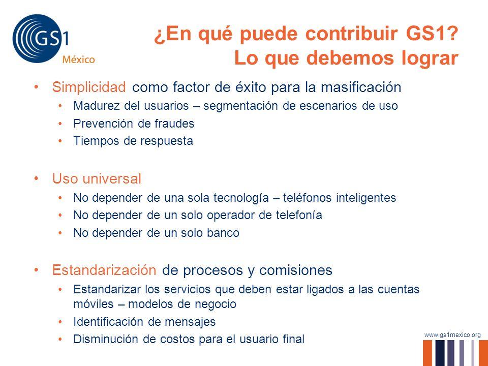 ¿En qué puede contribuir GS1 Lo que debemos lograr