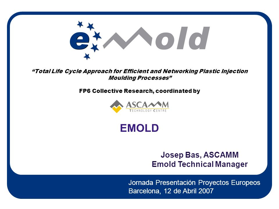 Emold Technical Manager