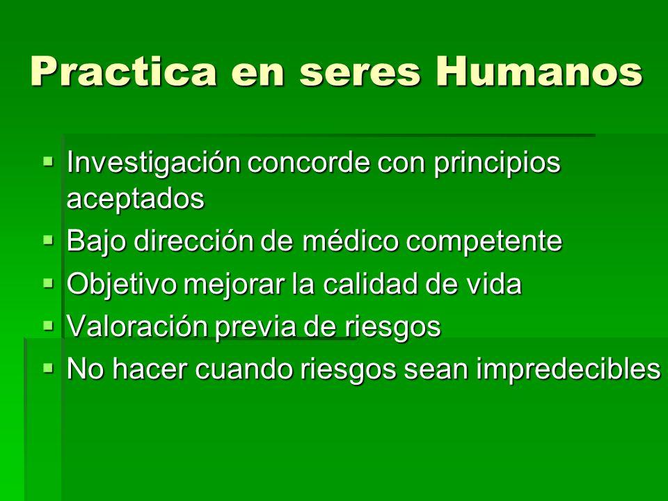 Practica en seres Humanos