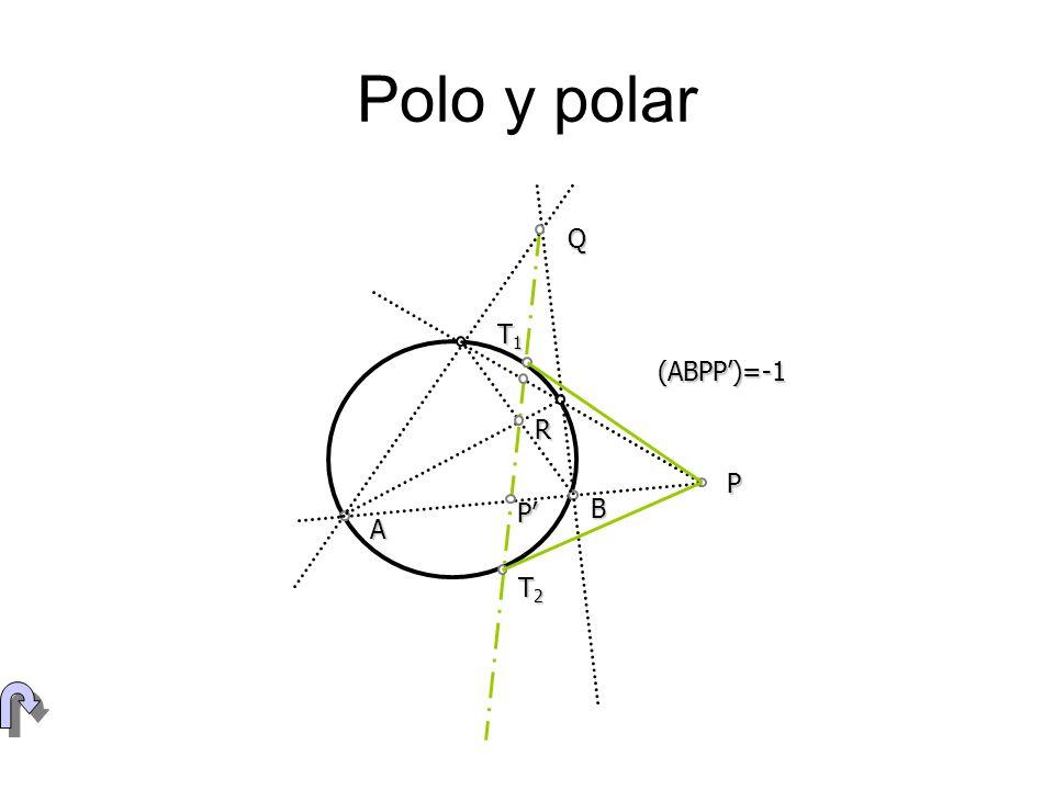 Polo y polar Q T1 (ABPP')=-1 R P P' B A T2