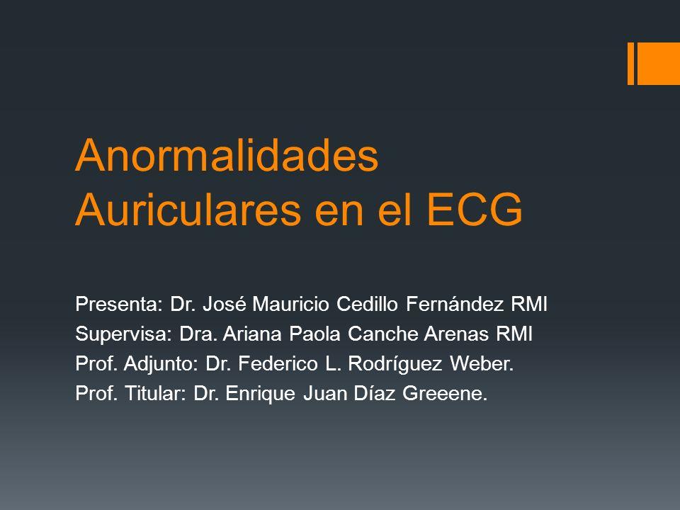 Anormalidades Auriculares en el ECG