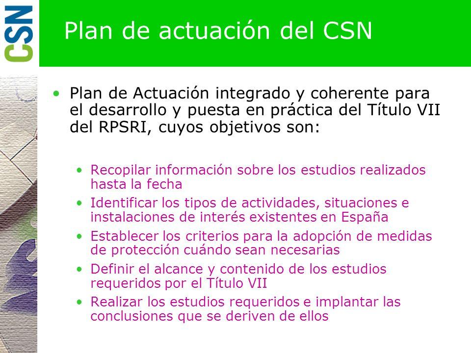 Plan de actuación del CSN
