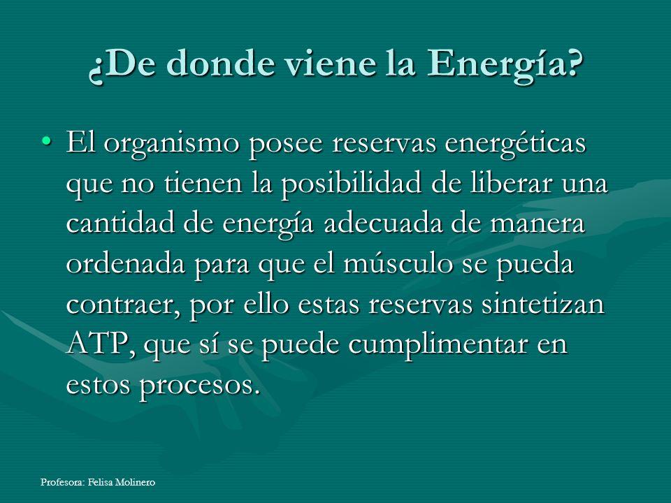 ¿De donde viene la Energía