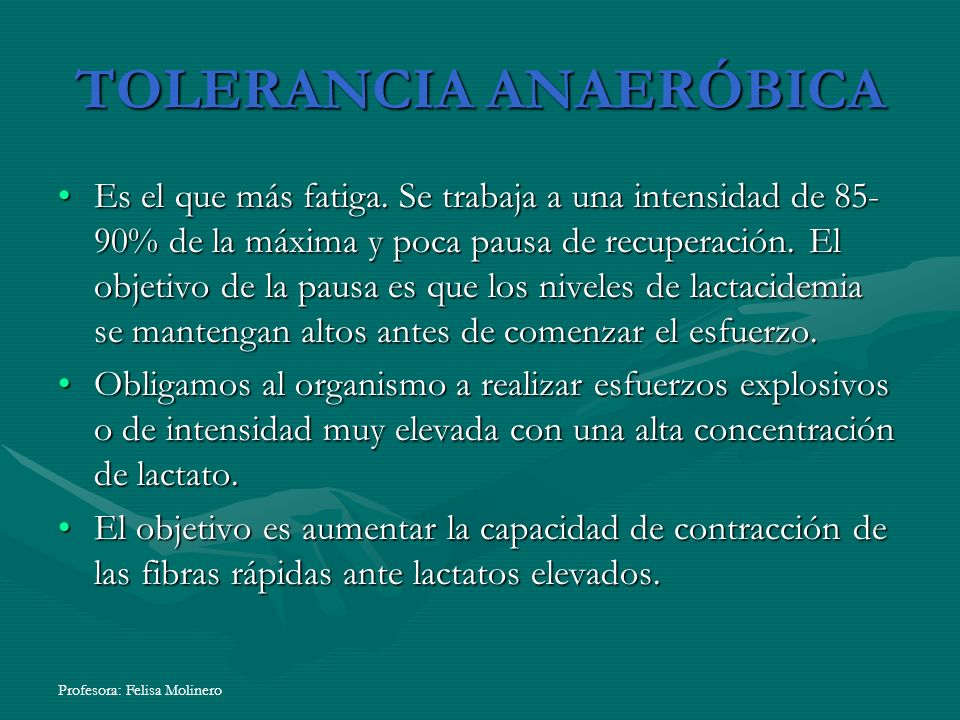 TOLERANCIA ANAERÓBICA