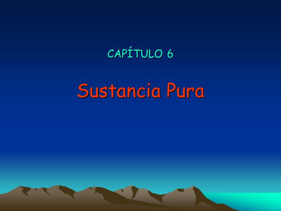 CAPÍTULO 6 Sustancia Pura