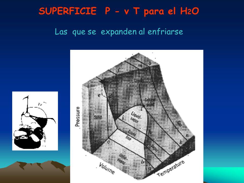 SUPERFICIE P - v T para el H2O