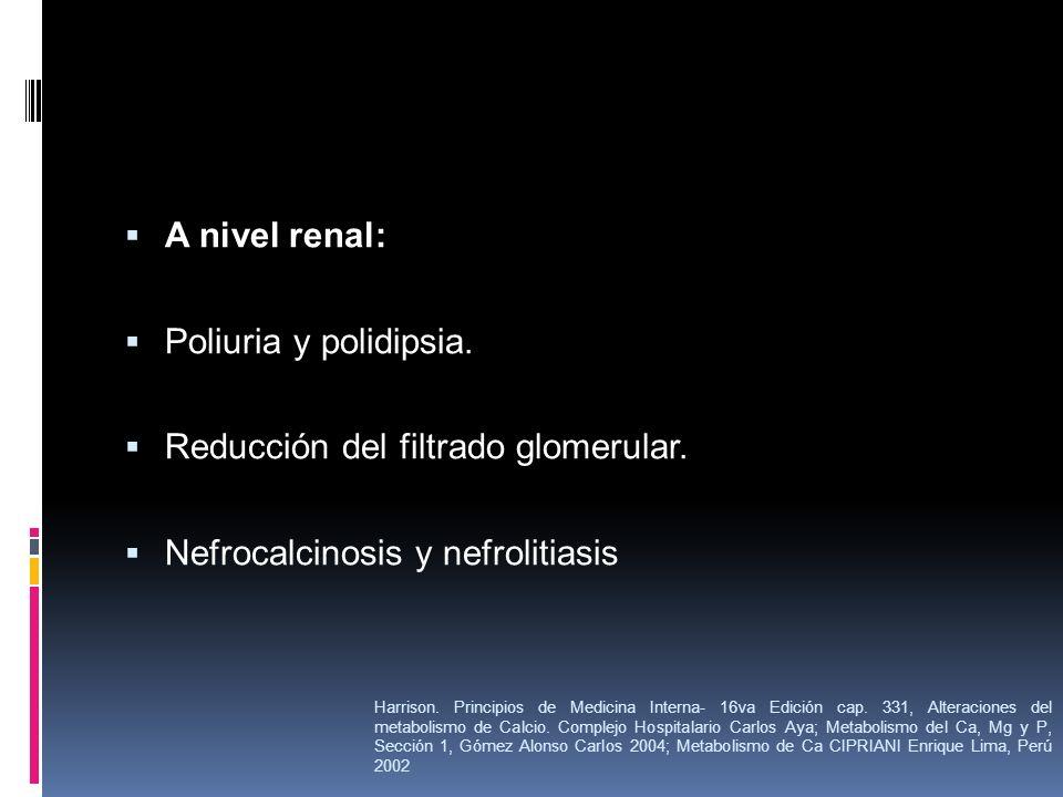 Reducción del filtrado glomerular.