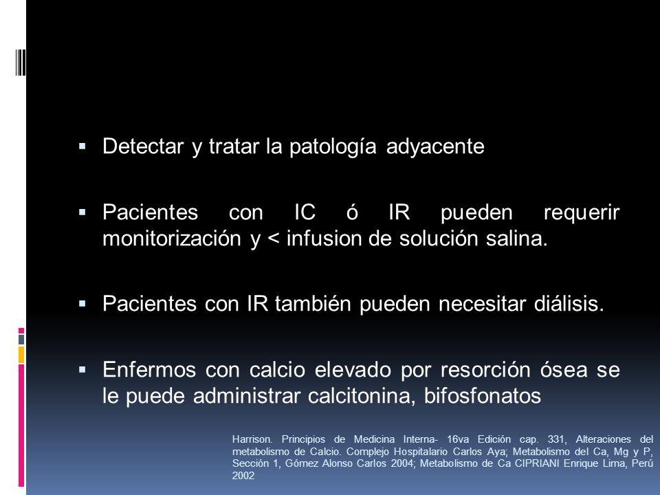 Detectar y tratar la patología adyacente