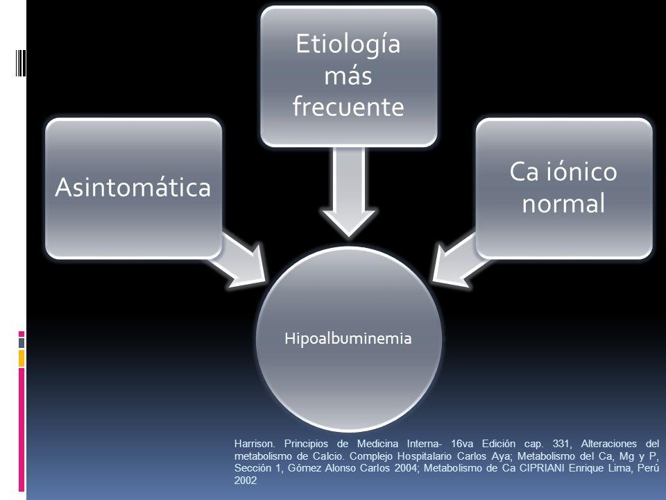 Etiología más frecuente