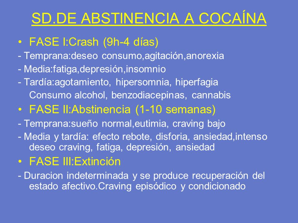 SD.DE ABSTINENCIA A COCAÍNA
