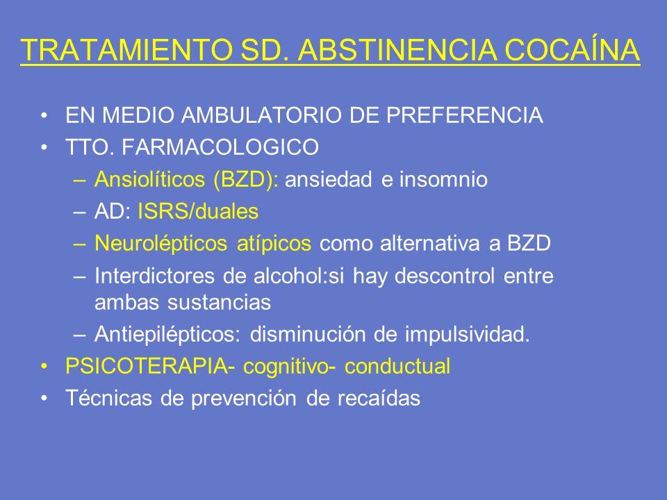 TRATAMIENTO SD. ABSTINENCIA COCAÍNA
