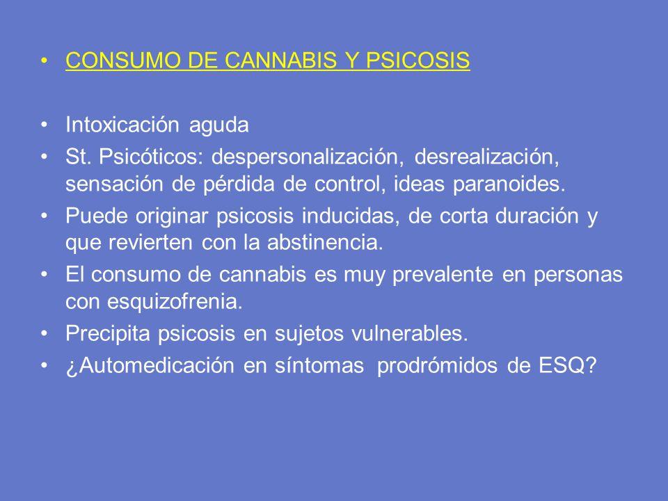 CONSUMO DE CANNABIS Y PSICOSIS