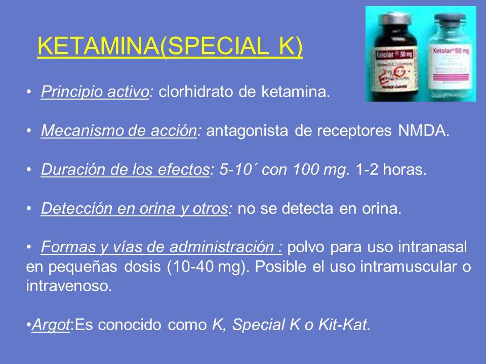 KETAMINA(SPECIAL K) Principio activo: clorhidrato de ketamina.