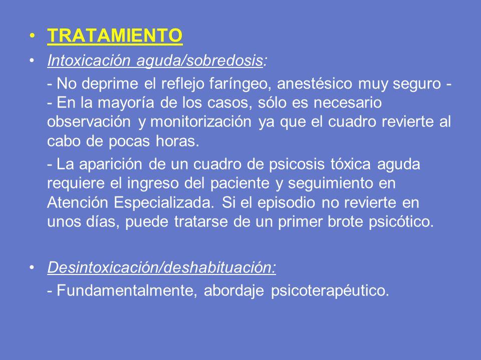 TRATAMIENTO Intoxicación aguda/sobredosis: