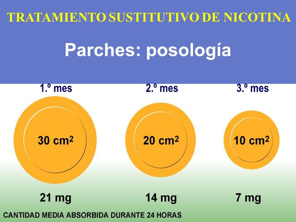 Parches: posología TRATAMIENTO SUSTITUTIVO DE NICOTINA