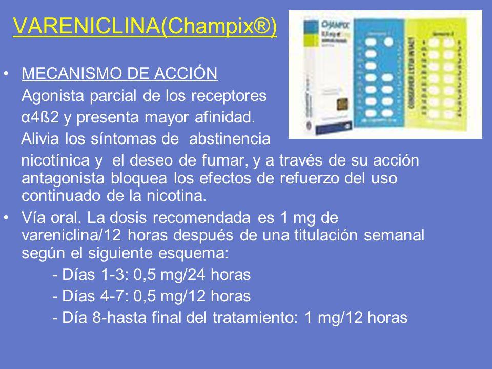 VARENICLINA(Champix®)
