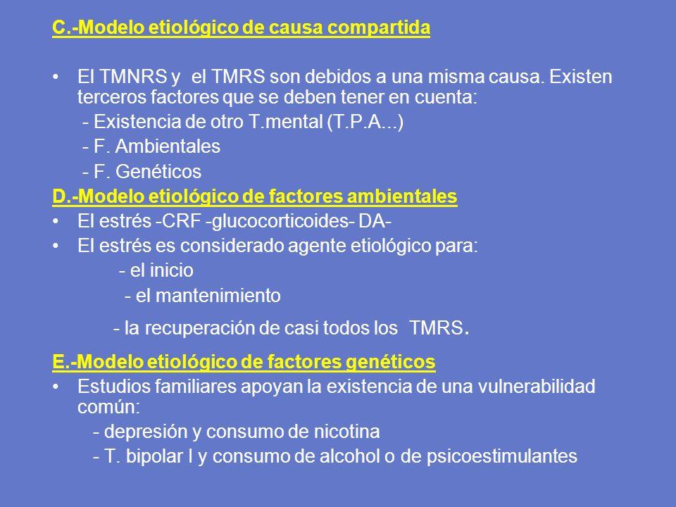 C.-Modelo etiológico de causa compartida