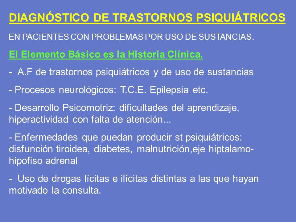 DIAGNÓSTICO DE TRASTORNOS PSIQUIÁTRICOS