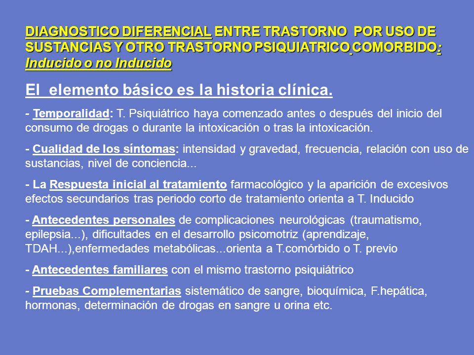 El elemento básico es la historia clínica.
