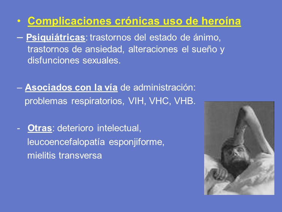 Complicaciones crónicas uso de heroína