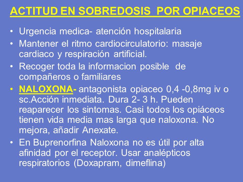 ACTITUD EN SOBREDOSIS POR OPIACEOS