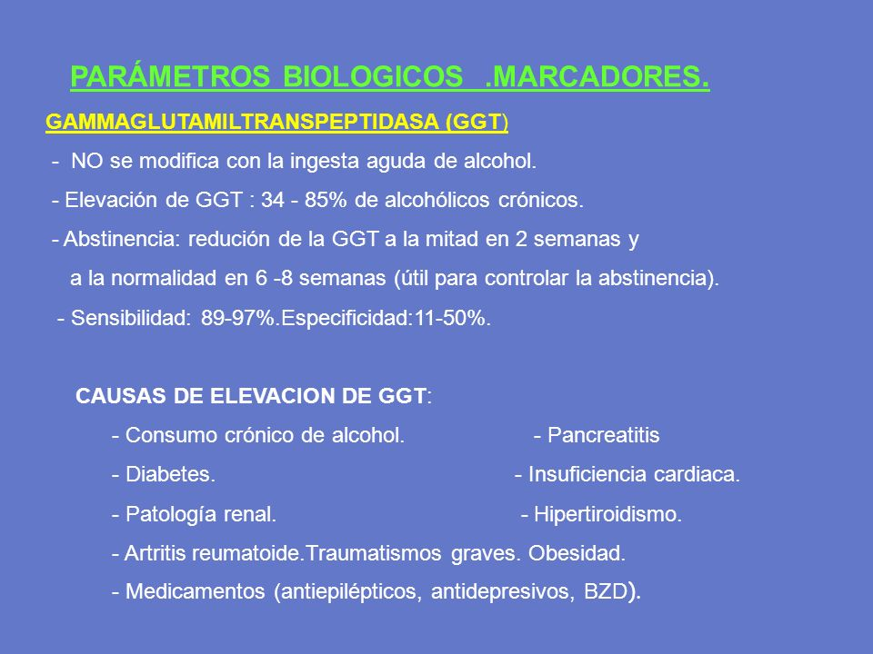 PARÁMETROS BIOLOGICOS .MARCADORES.