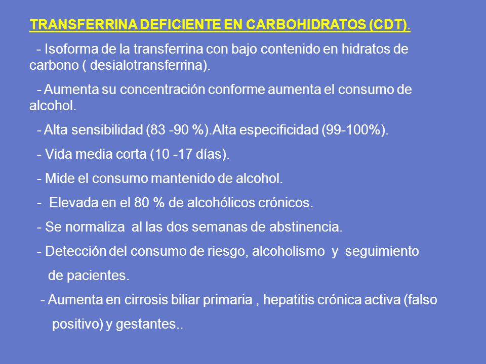 TRANSFERRINA DEFICIENTE EN CARBOHIDRATOS (CDT).