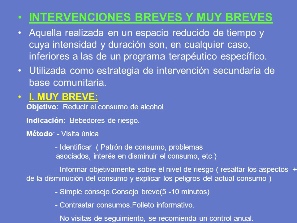 INTERVENCIONES BREVES Y MUY BREVES