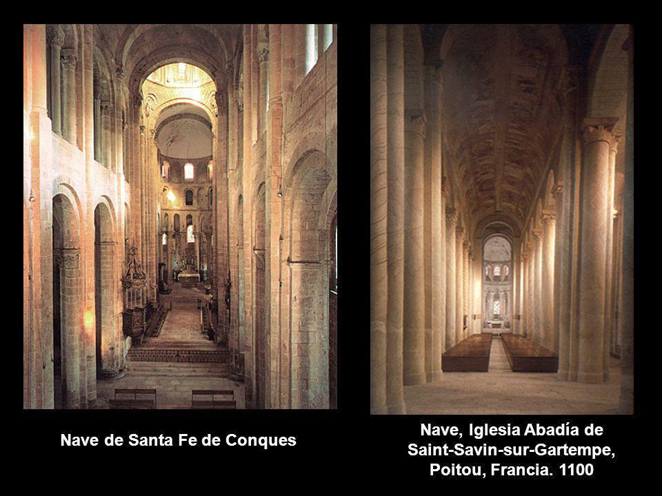 Nave, Iglesia Abadía de Saint-Savin-sur-Gartempe, Poitou, Francia. 1100