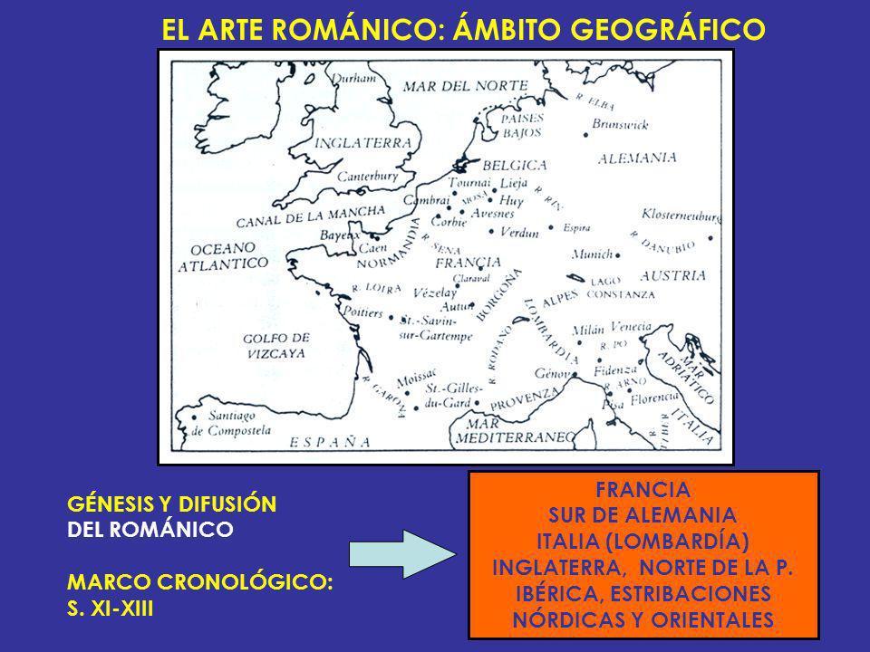 EL ARTE ROMÁNICO: ÁMBITO GEOGRÁFICO