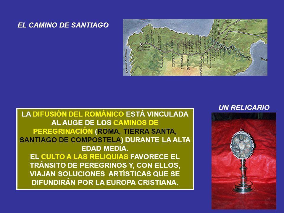LA DIFUSIÓN DEL ROMÁNICO ESTÁ VINCULADA AL AUGE DE LOS CAMINOS DE