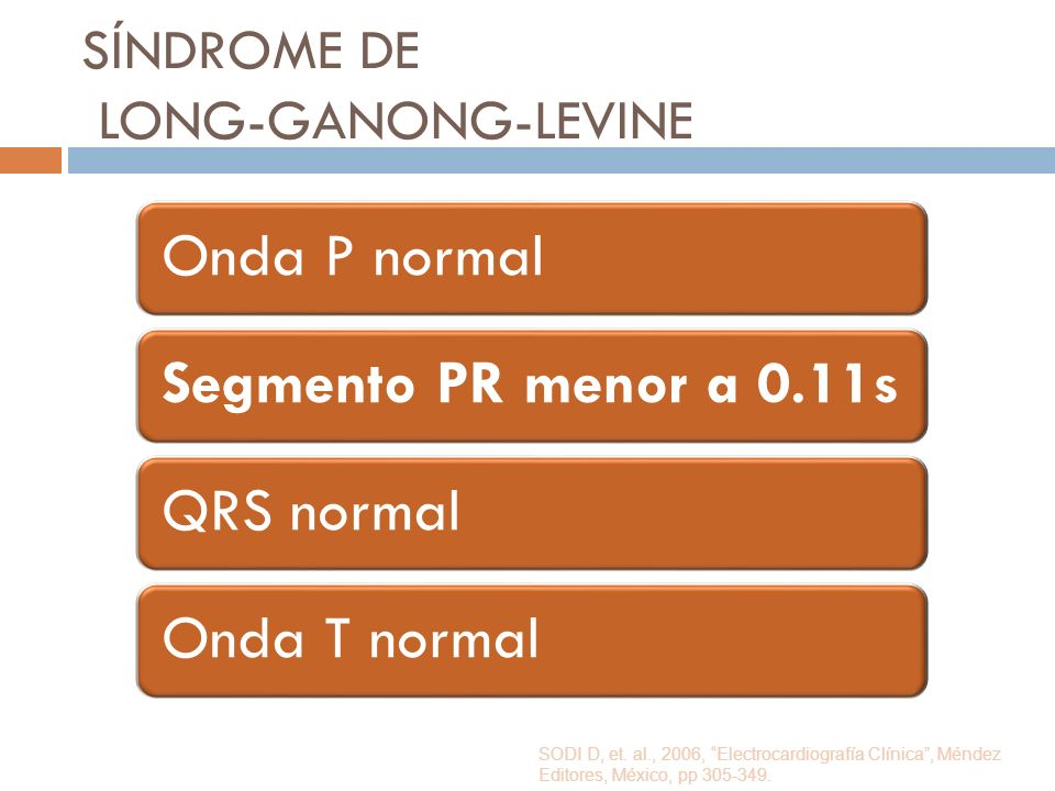 SÍNDROME DE LONG-GANONG-LEVINE