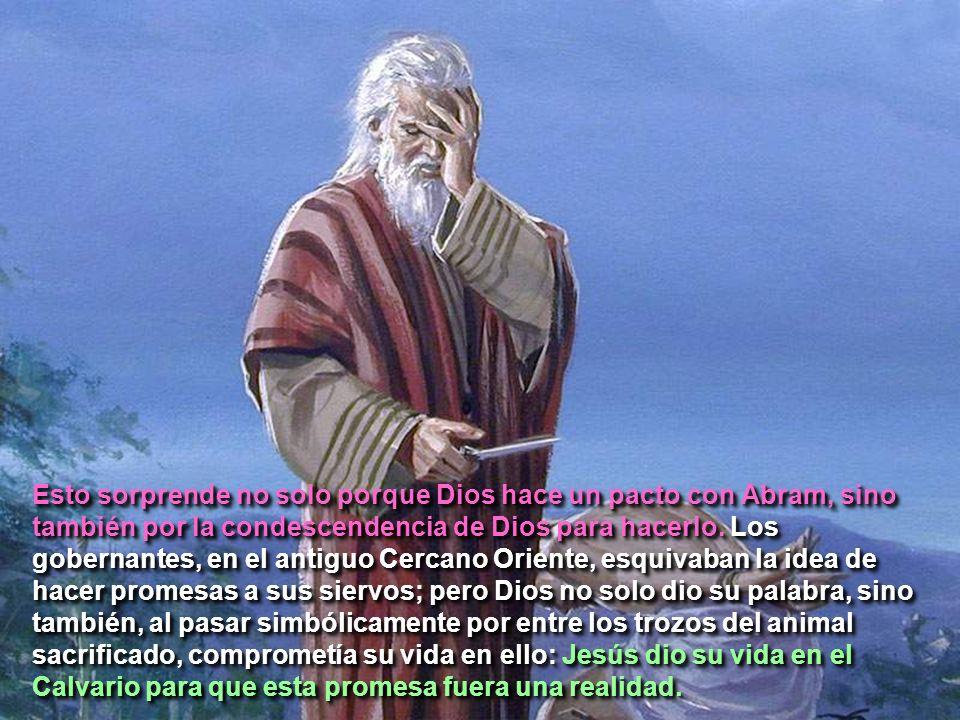 Esto sorprende no solo porque Dios hace un pacto con Abram, sino también por la condescendencia de Dios para hacerlo.