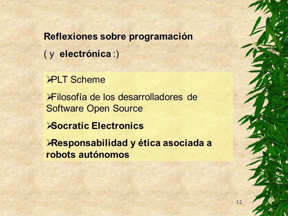 Reflexiones sobre programación