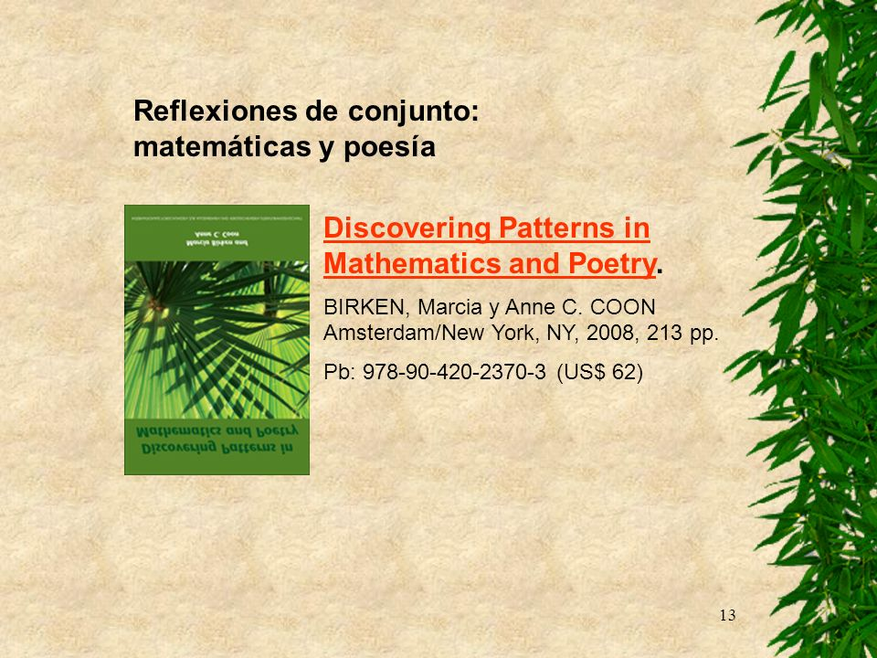 Reflexiones de conjunto: matemáticas y poesía