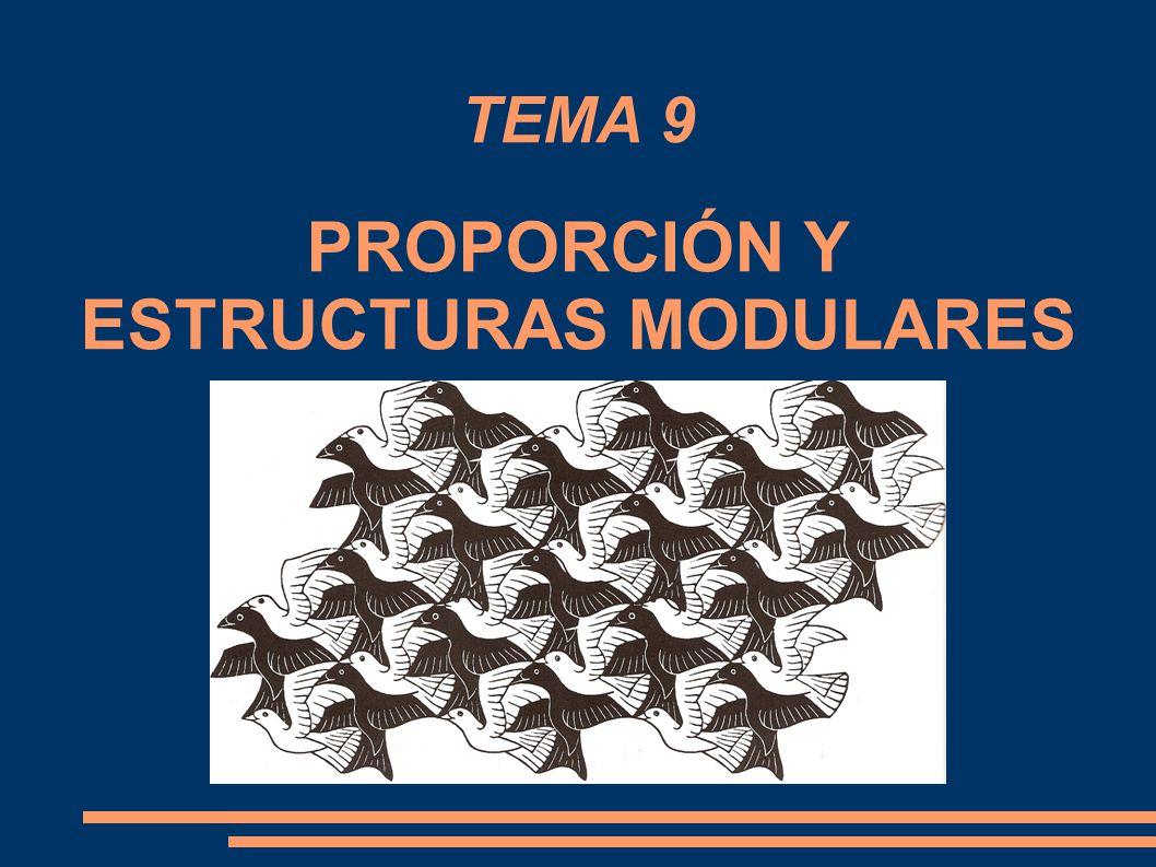 TEMA 9 PROPORCIÓN Y ESTRUCTURAS MODULARES