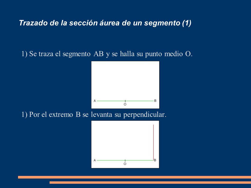 Trazado de la sección áurea de un segmento (1)