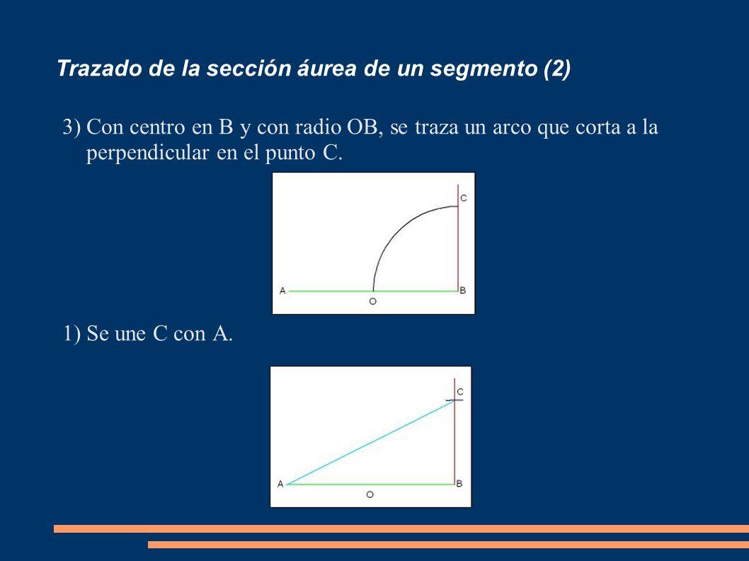Trazado de la sección áurea de un segmento (2)