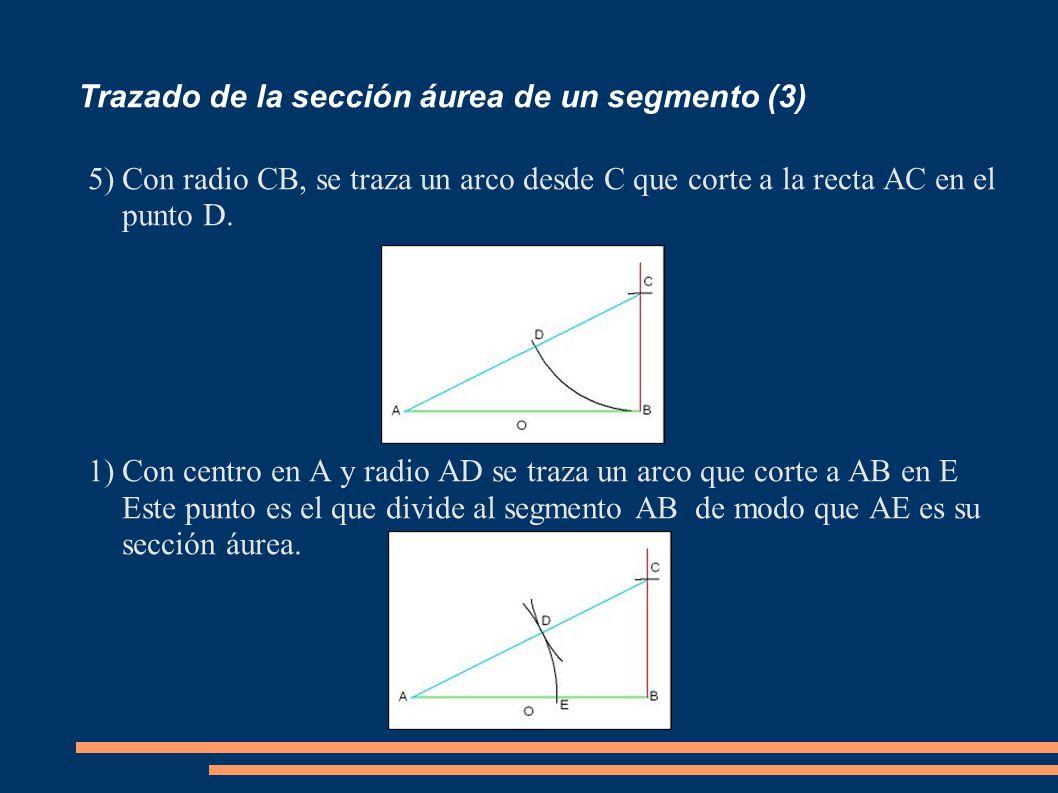 Trazado de la sección áurea de un segmento (3)