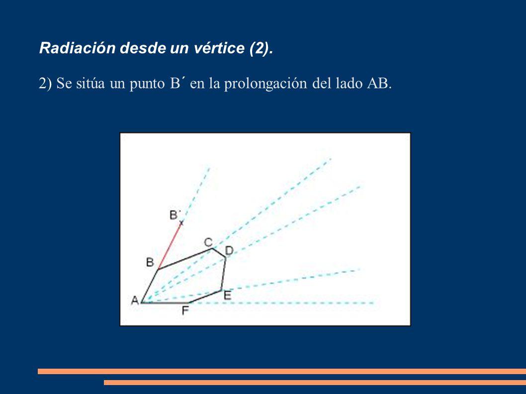 Radiación desde un vértice (2).