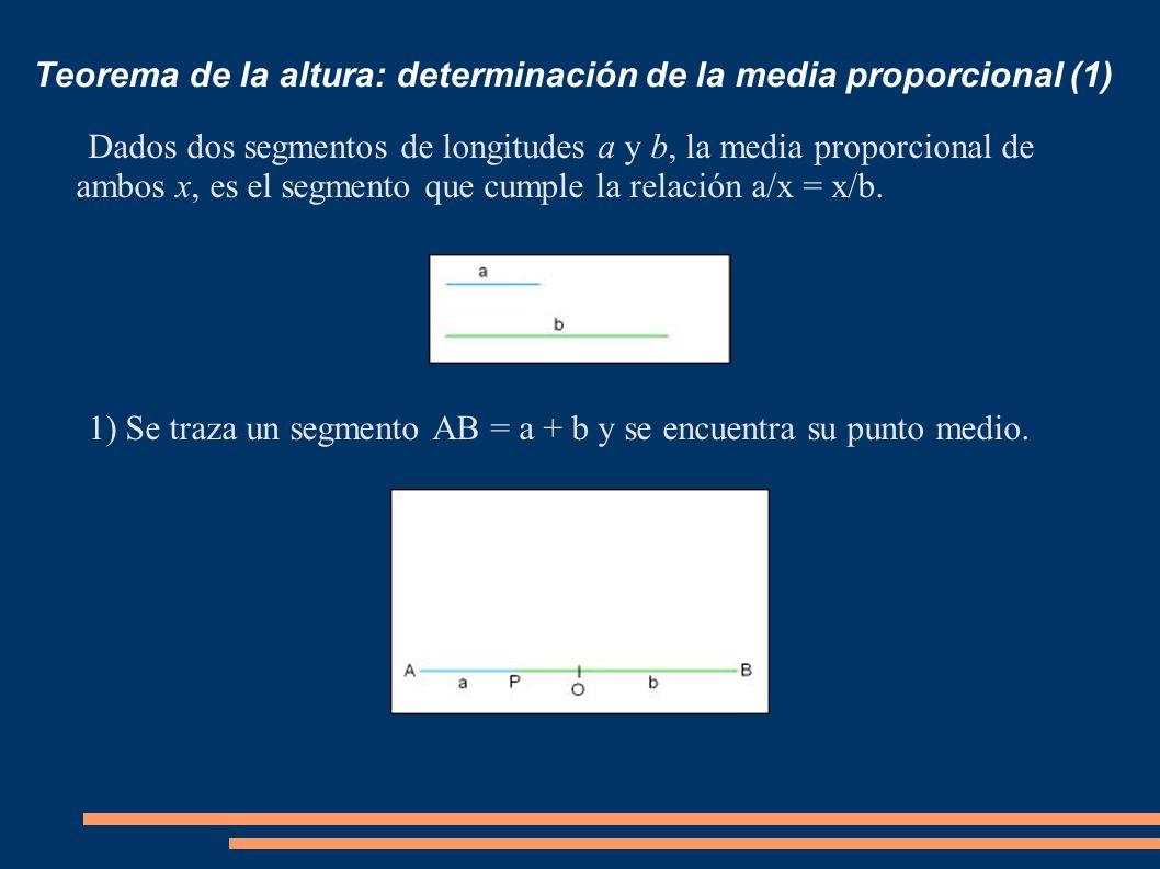 Teorema de la altura: determinación de la media proporcional (1)