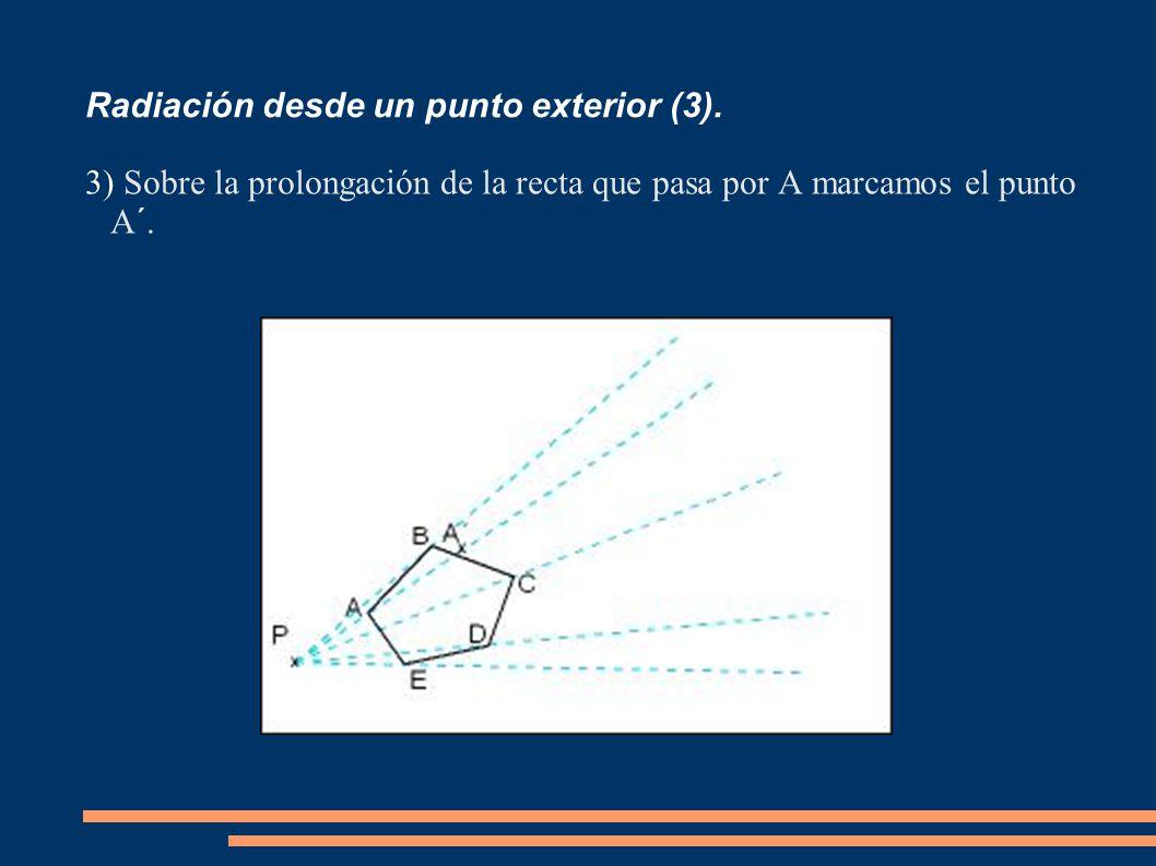 Radiación desde un punto exterior (3).