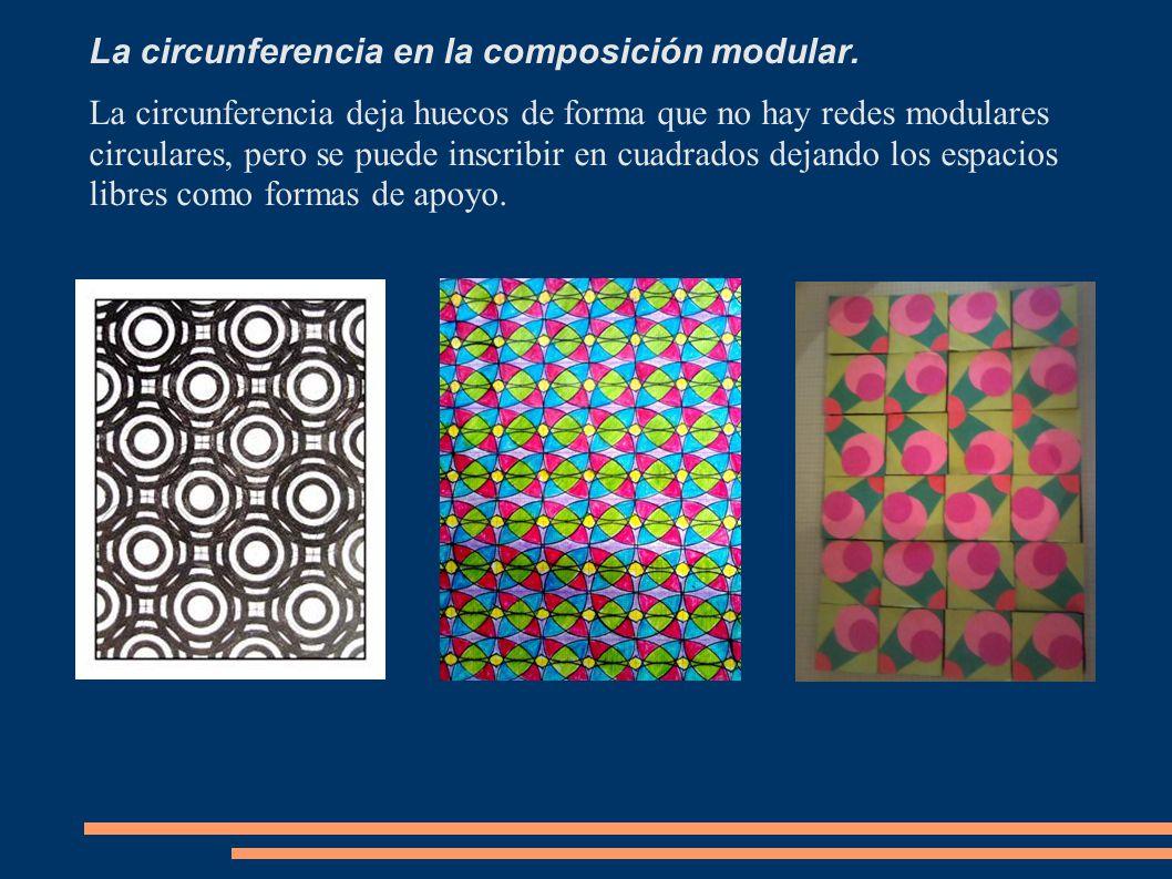 La circunferencia en la composición modular.