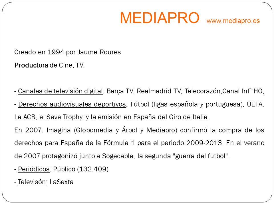 MEDIAPRO www.mediapro.es