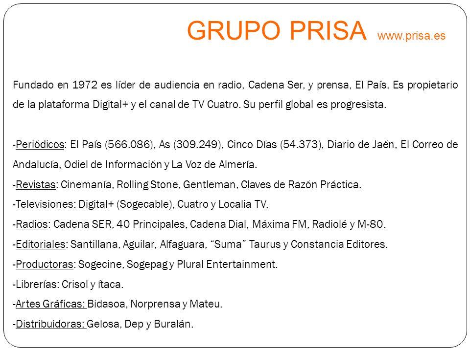 GRUPO PRISA www.prisa.es