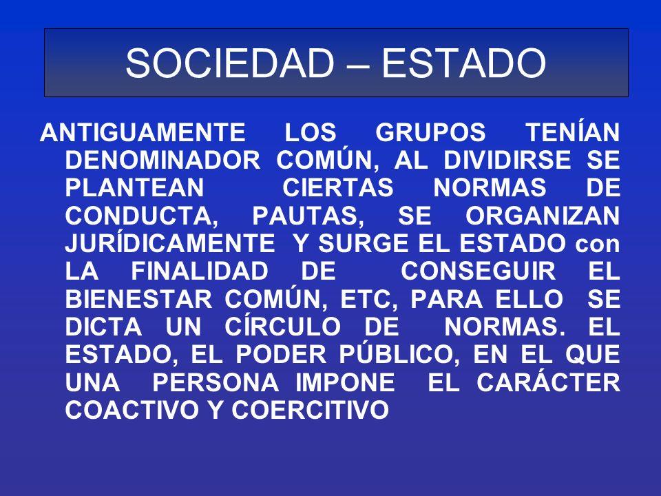 SOCIEDAD – ESTADO